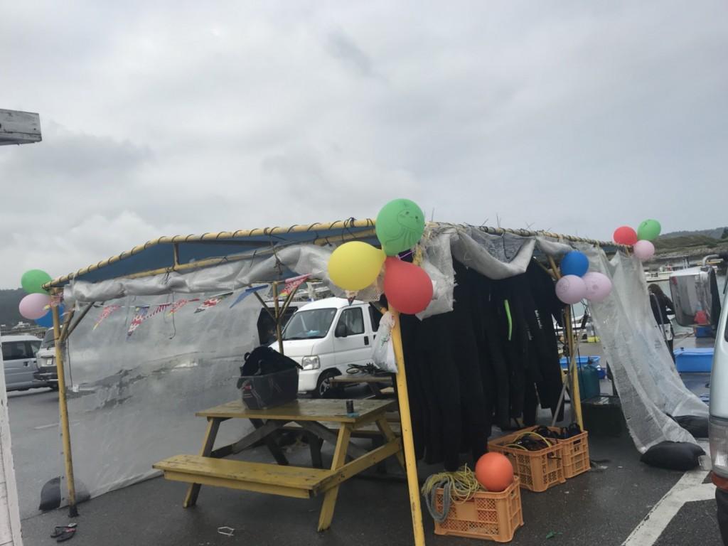 海洋俱樂部gigi的小棚子,幾乎破光光的氣球